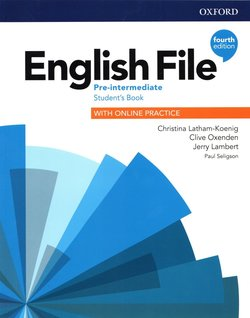English File (4th Edition) Pre-intermediate Student's Book with Student's Resource Centre ISBN: 9780194037419