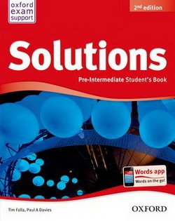 Solutions (2nd Edition) Pre-Intermediate Student's Book ISBN: 9780194552875