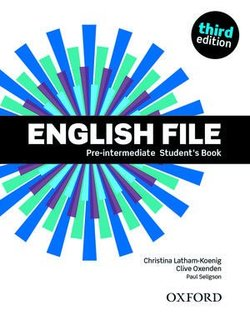English File (3rd Edition) Pre-Intermediate Student's Book (without iTutor CD-ROM) ISBN: 9780194598576