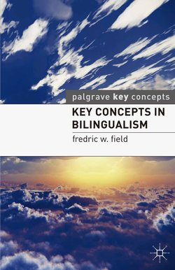 Key Concepts in Bilingualism ISBN: 9780230232334