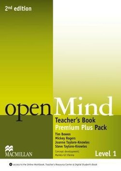 OpenMind (American English) (2nd Edition) 1 Teacher's Book Premium Pack Plus with Class Audio & DVD & Webcode ISBN: 9780230495098