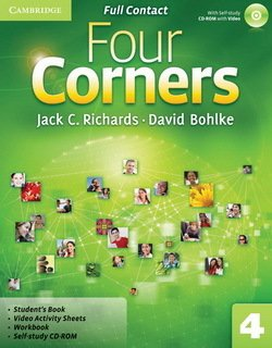 Four Corners 4 Full Contact (Student's Book, Workbook & Video Activity Sheets) with Self-Study CD-ROM ISBN: 9780521127615