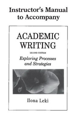 Academic Writing (2nd Edition) Instructor's Manual ISBN: 9780521657679