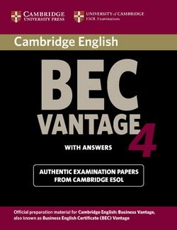 Cambridge BEC Vantage 4 Student's Book with Answers ISBN: 9780521739269
