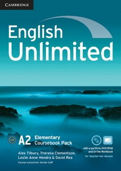 English Unlimited Elementary Coursebook with e-Portfolio and Online Workbook ISBN: 9781107677456