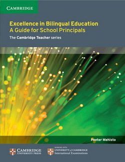 Excellence in Bilingual Education: A Guide for School Principals ISBN: 9781107681477
