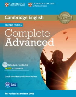 Complete Advanced (2nd Edition) Student's Pack (Student's Book with Answers, CD-ROM & Class Audio CDs (3)) ISBN: 9781107688230