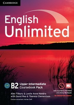 English Unlimited Upper Intermediate Coursebook with e-Portfolio and Online Workbook ISBN: 9781107691957