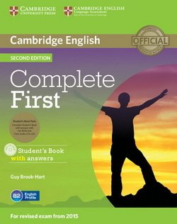 Complete First (2nd Edition) Student's Book Pack (Student's Book with Answers, CD-ROM & Class Audio CDs (2)) ISBN: 9781107698352