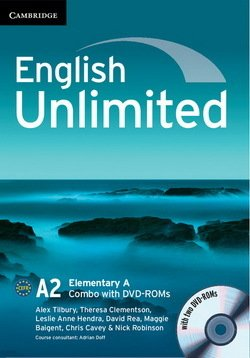 English Unlimited Elementary A Combo (Split Edition - Student's Book & Workbook) with DVD-ROMs (2) ISBN: 9781107698840