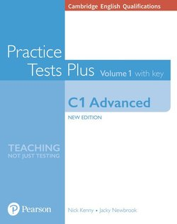 Cambridge English: Advanced (CAE) Practice Tests Plus 1 (New Edition) Student's Book with Key & Online Audio ISBN: 9781292208725