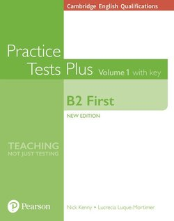 Cambridge English: First (FCE) Practice Tests Plus 1 (New Edition) Student's Book with Key & Online Audio ISBN: 9781292208756