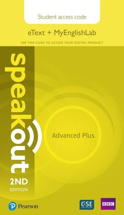 Speakout (2nd Edition) Advanced * PLUS * eText Coursebook with MyEnglishLab (Internet Access Code) ISBN: 9781292212142