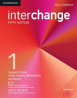 Interchange (5th Edition) 1 Full Contact (Student's Book, Workbook & Video Worksheets) with Online Self-Study ISBN: 9781316623909