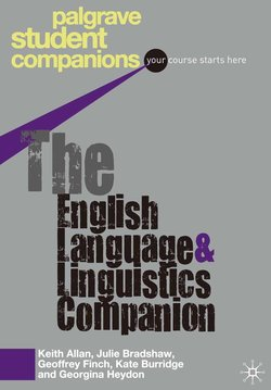 The English Language and Linguistics Companion ISBN: 9781403989710