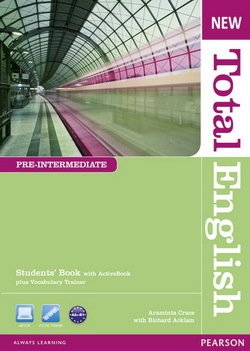 New Total English Pre-Intermediate Student's Book with ActiveBook CD-ROM ISBN: 9781408267202