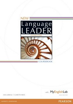 New Language Leader Elementary Coursebook with MyEnglishLab ISBN: 9781447961451