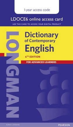 Longman Dictionary of Contemporary English (6th Edition) Single User 1 Year Internet Access Card  ISBN: 9781447981589