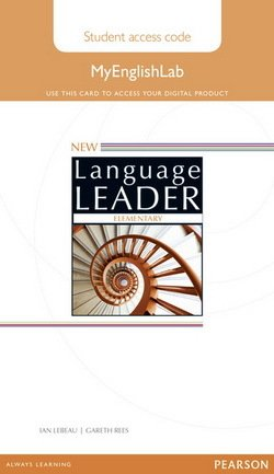 New Language Leader Elementary MyEnglishLab Student's Internet Access Card ISBN: 9781447988588