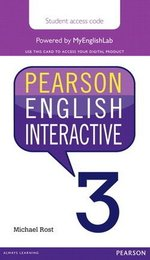 Pearson English Interactive 3 (B1+ / Intermediate) Student Online Version - International English (Internet Access Card) ISBN: 9780133833010