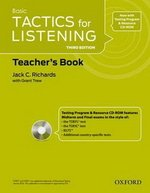 Tactics for Listening Basic (3rd Edition) Teacher's Book with CD ISBN: 9780194013758