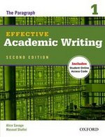 Effective Academic Writing (2nd Edition) 1 Student Book with Online Access Code ISBN: 9780194323468