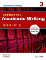 Effective Academic Writing (2nd Edition) 3 Student Book with Online Access Code ISBN: 9780194323482