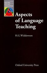 Aspects of Language Teaching ISBN: 9780194371285