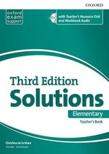 Solutions (3rd Edition) Elementary Teacher's Book with Resource Disc ISBN: 9780194562010