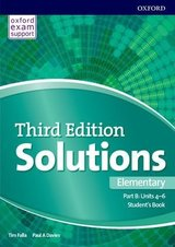 Solutions (3rd Edition) Elementary (Split Edition - 3 Parts) Student's Book B (Units 4-6) ISBN: 9780194563857