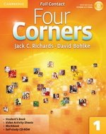Four Corners 1 Full Contact (Student's Book, Workbook & Video Activity Sheets) with Self-Study CD-ROM ISBN: 9780521126342