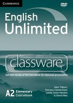English Unlimited Elementary Classware DVD-ROM ISBN: 9780521157216