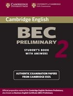 Cambridge BEC Preliminary 2 Student's Book with Answers ISBN: 9780521544504