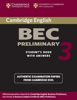 Cambridge BEC Preliminary 3 Student's Book with Answers ISBN: 9780521671958
