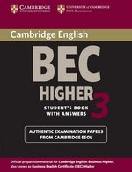 Cambridge BEC Higher 3 Student's Book with Answers ISBN: 9780521672030