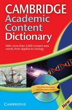 Cambridge Academic Content Dictionary (Paperback) with CD-ROM for Windows & Mac ISBN: 9780521691963