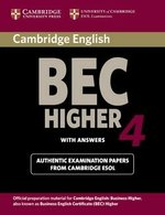 Cambridge BEC Higher 4 Student's Book with Answers ISBN: 9780521739207