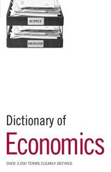 Dictionary of Economics ISBN: 9780713682038