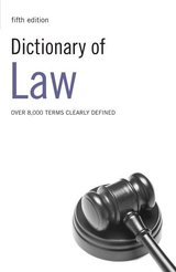 Dictionary of Law ISBN: 9780713683189