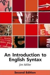 An Introduction to English Syntax ISBN: 9780748633616