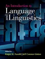 An Introduction to Language and Linguistics ISBN: 9781107637993