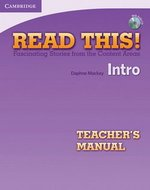 Read This! Intro Teacher's Manual with Audio CD ISBN: 9781107649231