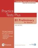 Cambridge English Qualifications: B1 Preliminary for Schools (PET4S) (2020 Exam) Practice Tests Plus Student's Book without Key with Online Audio ISBN: 9781292282169