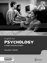 English for Psychology in Higher Education Studies Teacher's Book ISBN: 9781859644478