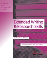 English for Academic Study (American Edition) Extended Writing & Research Skills Teacher's Book ISBN: 9781859645499