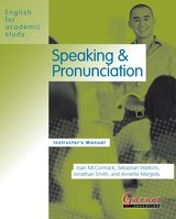 English for Academic Study (American Edition) Speaking & Pronunciation Teacher's Book ISBN: 9781859645758