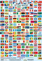 Flags of the World Poster ISBN: 9781903612705