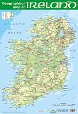 Geographical Map of Ireland Poster ISBN: 9781906707255